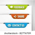 vector feedback  share and... | Shutterstock .eps vector #82776709