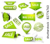 collection of vector green sale ... | Shutterstock .eps vector #82776763