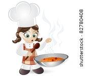 funny cartoon cook | Shutterstock .eps vector #82780408