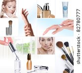 cosmetic theme collage composed ...   Shutterstock . vector #82780777