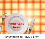 tablecloth background with... | Shutterstock .eps vector #82781794