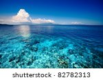 blue shallow sea with coral... | Shutterstock . vector #82782313