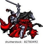knight mascot on horse | Shutterstock .eps vector #82783492