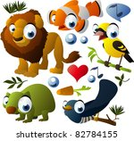 vector animals set  lion ... | Shutterstock .eps vector #82784155