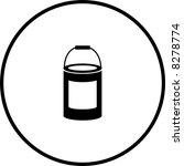 paint bottle symbol | Shutterstock .eps vector #8278774