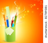 pencils in the stand | Shutterstock .eps vector #82789381