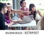 young people browsing internet... | Shutterstock . vector #82789507