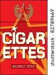 cigarettes label | Shutterstock .eps vector #82789669