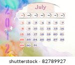calendar 2012  july  on water... | Shutterstock . vector #82789927
