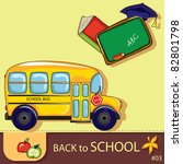 Colorful School Background Wit...