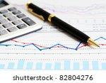 financial graphs analysis | Shutterstock . vector #82804276