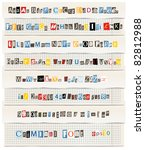 Different Colors Vector Letter...
