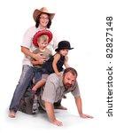 Happy family on a holidays. - stock photo