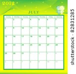 calendar 2012 july month with... | Shutterstock .eps vector #82831285
