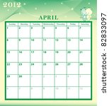 calendar 2012 april month with... | Shutterstock .eps vector #82833097