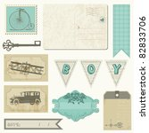 scrapbook design elements  ... | Shutterstock .eps vector #82833706