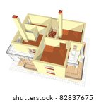 apartment the top view | Shutterstock . vector #82837675