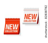 new collection labels. vector. | Shutterstock .eps vector #82838782