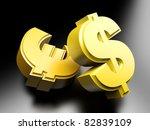 Dollar And Euro Money Symbols....