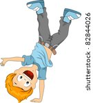 Illustration Of A Kid Doing A...