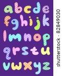 Polka Dot Lower Case Alphabet...