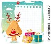 christmas   reindeer and his...
