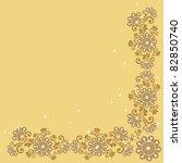 vector vintage floral ... | Shutterstock .eps vector #82850740