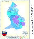 liechtenstein map with flag... | Shutterstock .eps vector #82852915