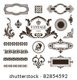 vector set of calligraphic... | Shutterstock .eps vector #82854592