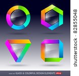 vector colorful and glass... | Shutterstock .eps vector #82855048
