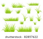 fragment of a green grass.... | Shutterstock .eps vector #82857622