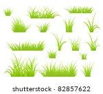 fragment of a green grass.... | Shutterstock .eps vector #82857622