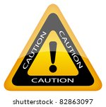Vector Caution Sign  Eps10...
