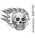 flaming tattoo skull | Shutterstock .eps vector #8287798