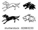 wolf illustration | Shutterstock .eps vector #82883233