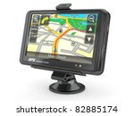 navigation system. gps on white ... | Shutterstock . vector #82885174