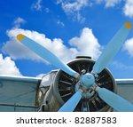 old plane against blue sky ... | Shutterstock . vector #82887583