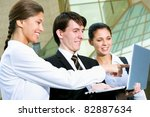 young business people on the... | Shutterstock . vector #82887634