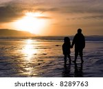 two children holding hands... | Shutterstock . vector #8289763