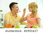 image of woman giving her... | Shutterstock . vector #82901617