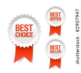 best choice  offer and seller... | Shutterstock .eps vector #82907947