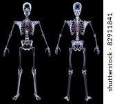 human skeleton under the x rays.... | Shutterstock . vector #82911841