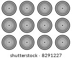 stylized licorice circles   Shutterstock . vector #8291227