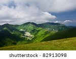 mountain ridge and blue sky... | Shutterstock . vector #82913098