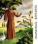 Saint Francis Preaching To...