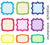 Set Of 9 Bright  Frames With...