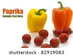 paprika and tomato on white... | Shutterstock . vector #82919083