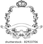illustration luxury vintage... | Shutterstock .eps vector #82923706