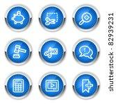 shopping web icons set 3  blue  ... | Shutterstock .eps vector #82939231