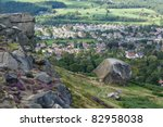 Cow And Calf Rocks On Ilkley...